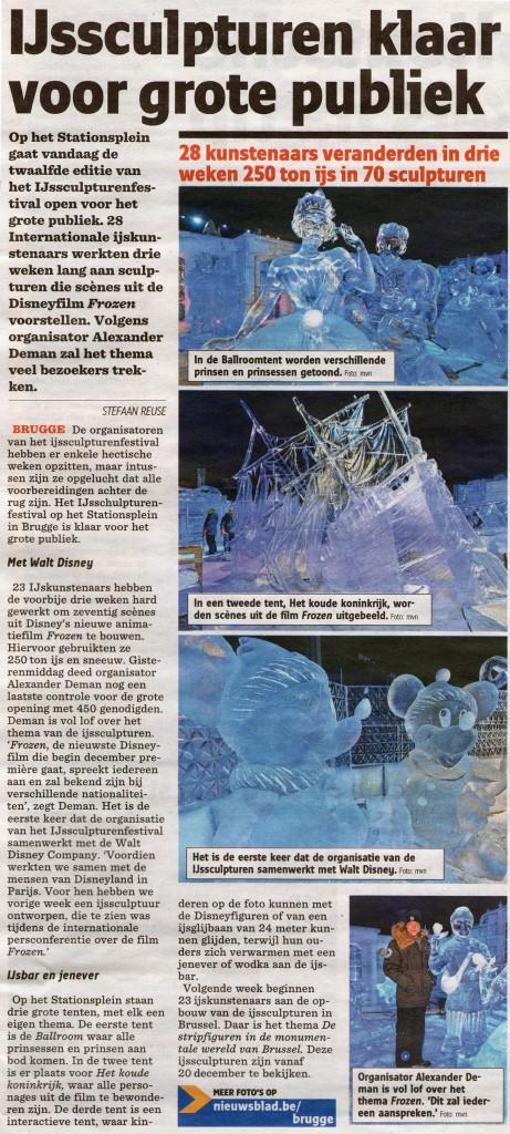 Het Nieuwsblad 22 nov 13