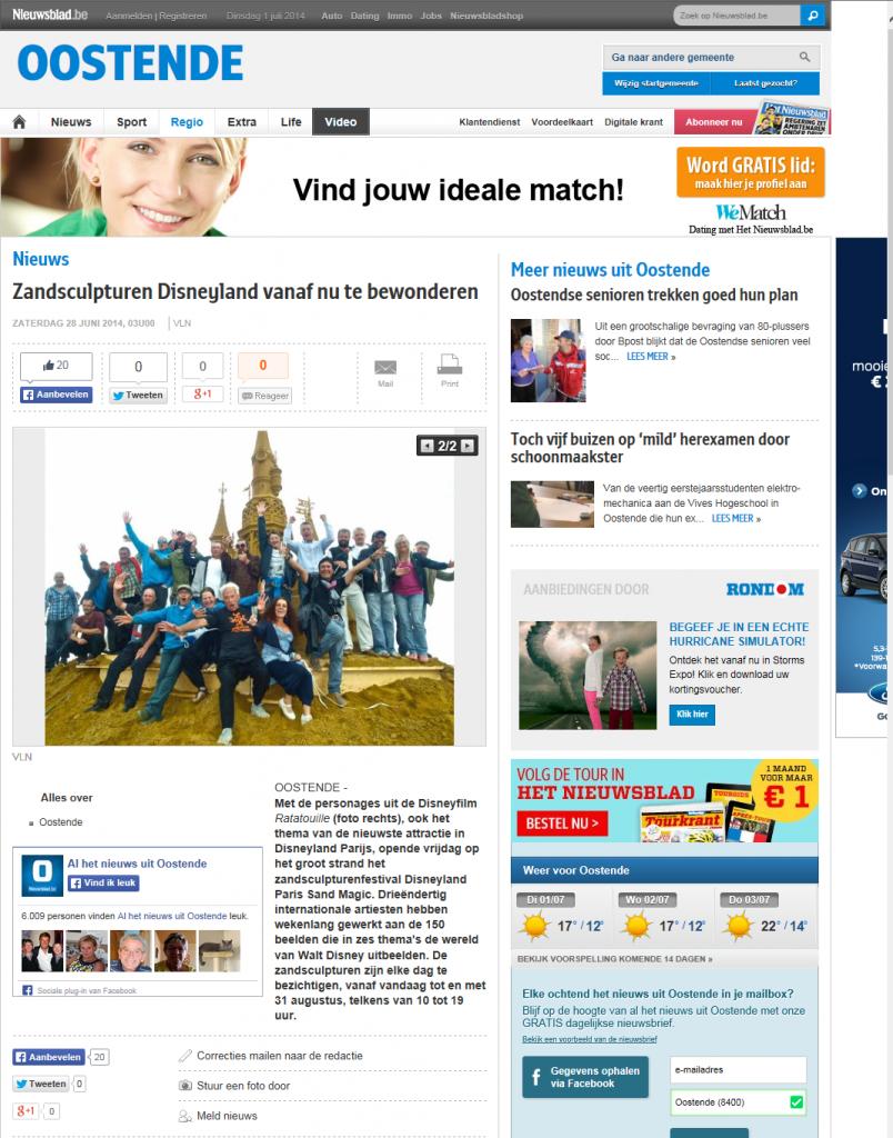 Het Nieuwsblad_Oostende_28 06 14