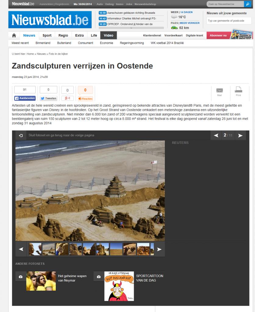 Het Nieuwsblad_sand_23 06 14