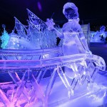 Snow and Ice Sculpture Festival in Bruges