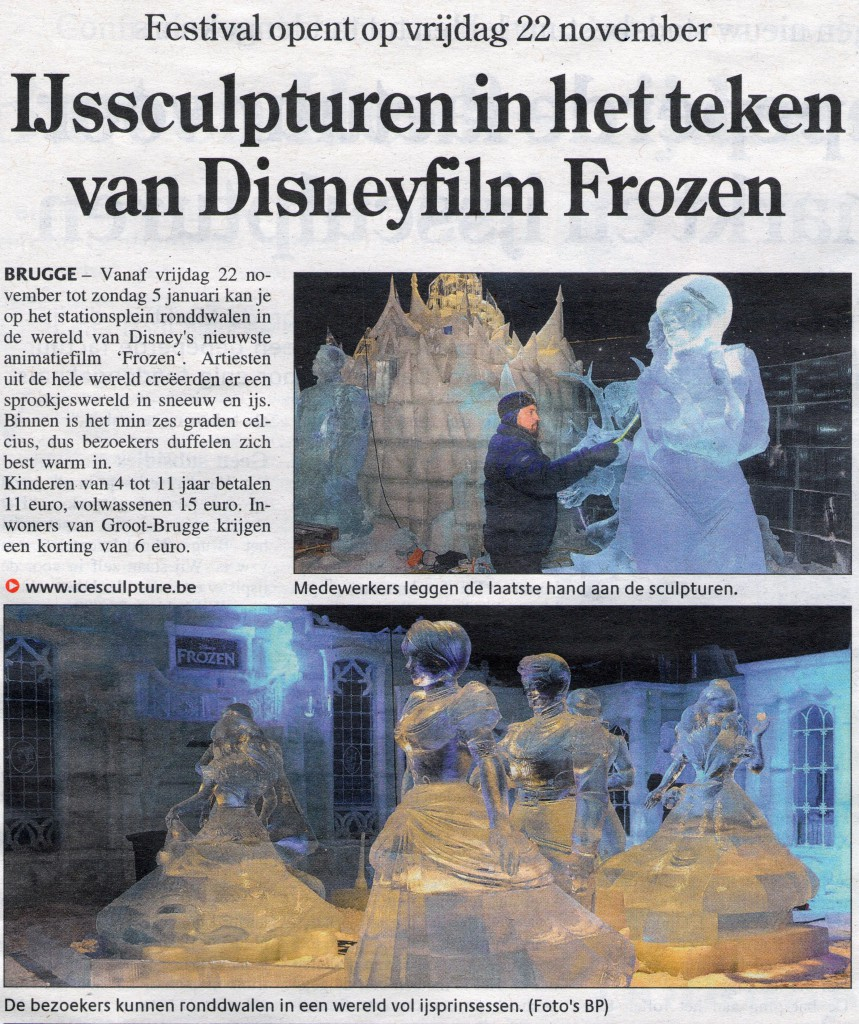Krant van West Vlaanderen 22 nov 13